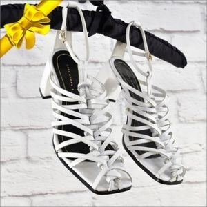 ZARA Weaved Sandal White Size 39 ~ax06p1f12p10